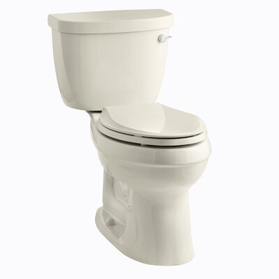 Cinamarron Two-Piece Elongated 1.6 GPF Toilet with Right-Hand Trip Lever Finish: Almond
