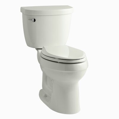 Cimarron Comfort Height Two-PieceToilet with Aquapiston Flush Technology and Left-Hand Trip Lever Finish: Dune