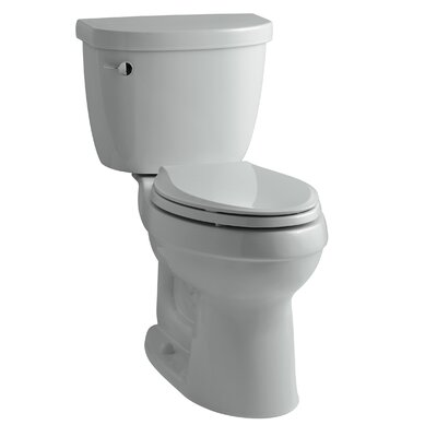 Cimarron Comfort Height Two-PieceToilet with Aquapiston Flush Technology and Left-Hand Trip Lever Finish: Ice Grey
