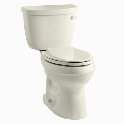 Cimarron Comfort Height Two-Piece Elongated 1.28 GPF Toilet with Aquapiston Flush Technology, Right-Hand Trip Lever and Insuliner Tank Liner Finish: Almond