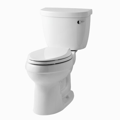 Cinamarron Two-Piece Elongated 1.6 GPF Toilet with Right-Hand Trip Lever Finish: White