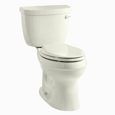 Cinamarron Two-Piece Elongated 1.6 GPF Toilet with Right-Hand Trip Lever Finish: Biscuit