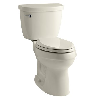 Cimarron Comfort Height Two-PieceToilet with Aquapiston Flush Technology and Left-Hand Trip Lever Finish: Almond