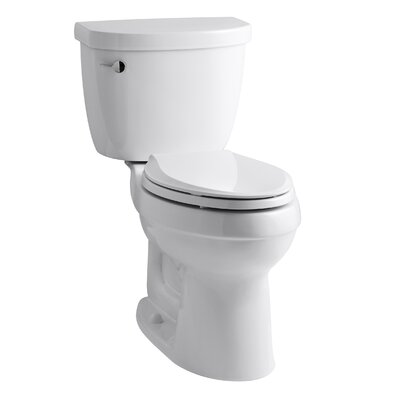 Cimarron Comfort Height Two-PieceToilet with Aquapiston Flush Technology and Left-Hand Trip Lever Finish: White