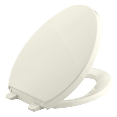 Saile Quiet-Close with Grip-Tightelongated Toilet Seat Finish: Biscuit