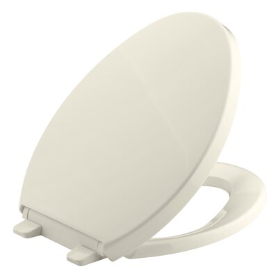 Saile Quiet-Close with Grip-Tightelongated Toilet Seat Finish: Almond