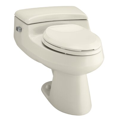 San Raphael Comfort Height One-Piece Elongated 1.0 GPF Toilet with Pressure Lite Flush Technology and Left-Hand Trip Lever Finish: Almond