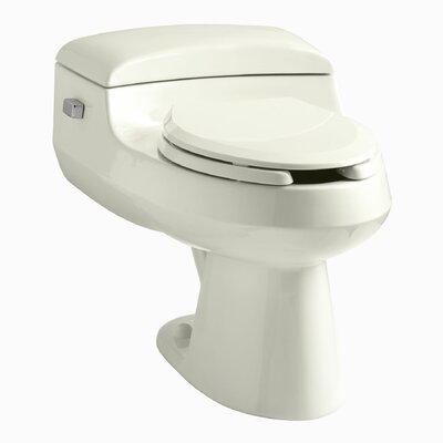 San Raphael Comfort Height One-Piece Elongated 1.0 GPF Toilet with Pressure Lite Flushing Technology, Includes Seat Finish: Biscuit