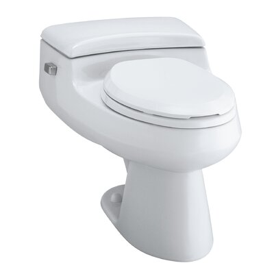 San Raphael Comfort Height One-Piece Elongated 1.0 GPF Toilet with Pressure Lite Flush Technology and Left-Hand Trip Lever Finish: White