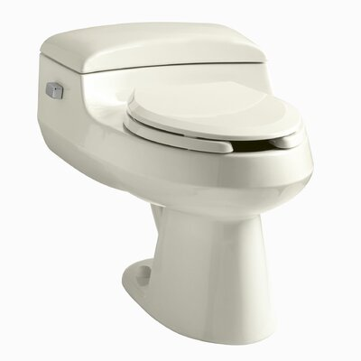 San Raphael Comfort Height One-Piece Elongated 1.0 GPF Toilet with Pressure Lite Flushing Technology, Includes Seat Finish: Almond