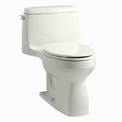 Santa Rosa Comfort Height One-Piece Compact Elongated 1.28 GPF Toilet with Aquapiston Flush Technology and Left-Hand Trip Lever Finish: Dune