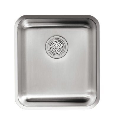 Undertone 15-3/4 x 17-1/2 x 9-5/8 Medium Squared Under-Mount Single-Bowl Kitchen Sink