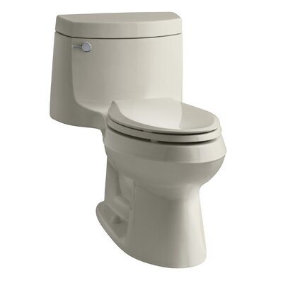Cimarron Comfort Height One-Piece Elongated 1.28 GPF Toilet with Aquapiston Flush Technology and Left-Hand Trip Lever Finish: Sandbar