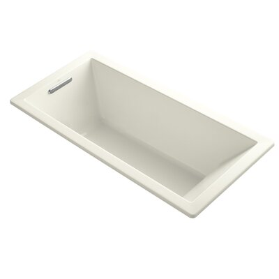 Underscore 66 x 32 Drop-in Soaking Bathtub Finish: Biscuit