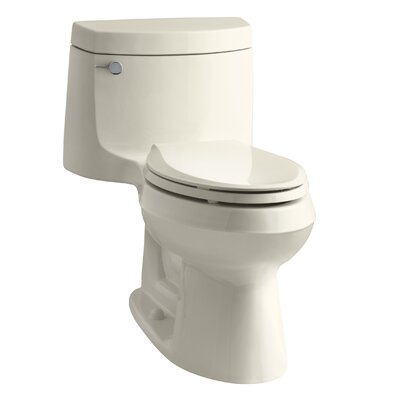 Cimarron Comfort Height One-Piece Elongated 1.28 GPF Toilet with Aquapiston Flush Technology and Left-Hand Trip Lever Finish: Almond