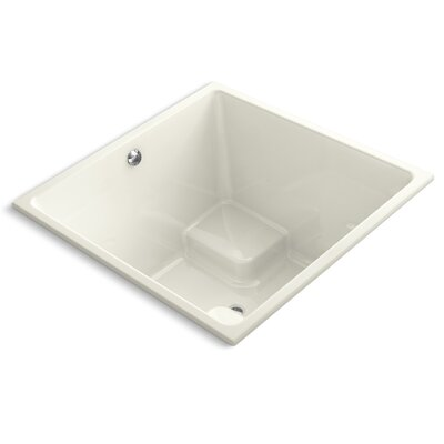 Underscore 48 x 48 Soaking Bathtub Finish: Biscuit