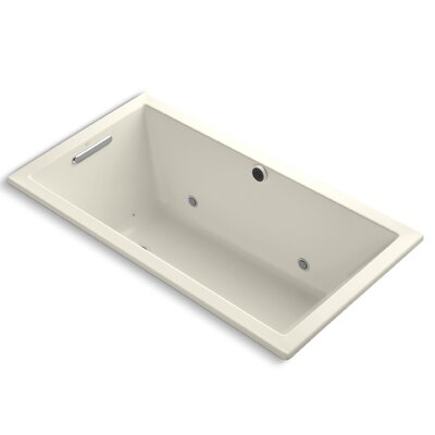 Underscore Bubblemassage 60 x 32 Whirpool Bathtub Finish: Almond