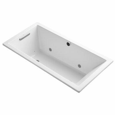 Underscore Bubblemassage 60 x 30 Whirpool Bathtub Finish: White