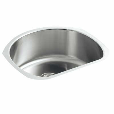 Undertone 24-1/4 x 21-1/4 x 9-1/2 Under-Mount Medium D-Shaped Single-Bowl Kitchen Sink