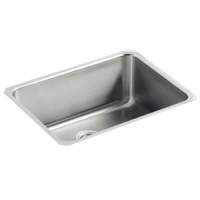 Undertone 23 x 17-1/2 x 9-13/16 Medium Squared Under-Mount Single-Bowl Kitchen Sink