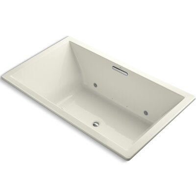 Underscore Bubblemassage 72 x 42 Whirpool Bathtub Finish: Biscuit