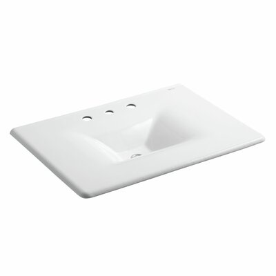 Iron Impressions 32 Single Bathroom Vanity Top Finish: White, Faucet Hole Style: Single