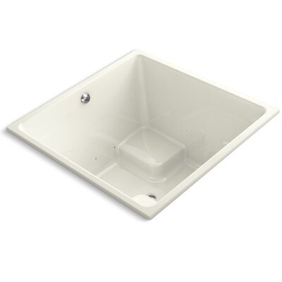 Underscore 48 x 48 Air Bathtub Finish: Biscuit