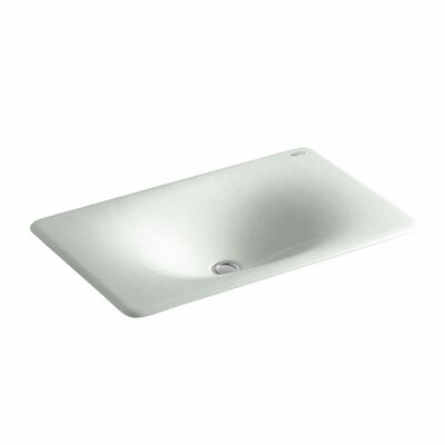 Iron Tones Metal Rectangular Drop-In Bathroom Sink Sink Finish: Sea Salt