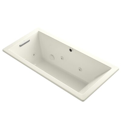 Underscore 66 x 32 Whirpool Bathtub Finish: Biscuit