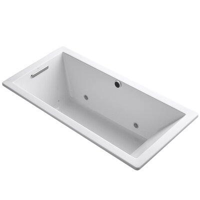 Underscore Bubblemassage 66 x 32 Whirpool Bathtub Finish: White