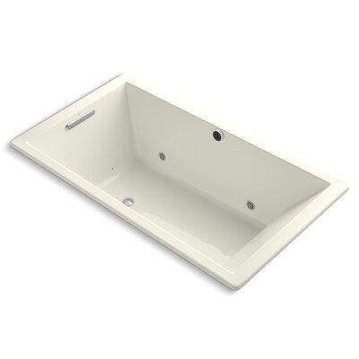 Underscore Bubblemassage 66 x 36 Whirpool Bathtub Finish: Biscuit