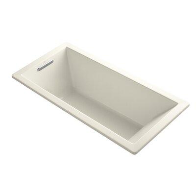 Underscore 66 x 32 Drop-in Soaking Bathtub Finish: Almond