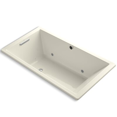 Underscore Bubblemassage 66 x 36 Whirpool Bathtub Finish: Almond