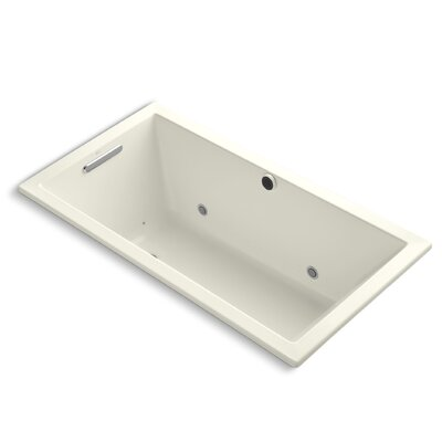 Underscore Bubblemassage 60 x 32 Whirpool Bathtub Finish: Biscuit
