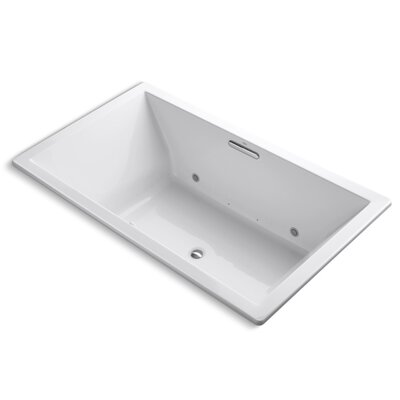 Underscore Bubblemassage 72 x 42 Whirpool Bathtub Finish: White