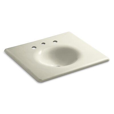 Iron Impressions 26 Single Bathroom Vanity Top Finish: Cane Sugar, Faucet Hole Style: 8 Widespread