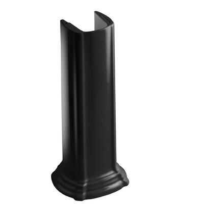 Portrait Bathroom Sink Pedestal Finish: Black Black