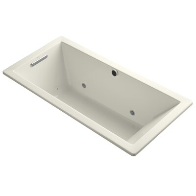 Underscore Bubblemassage 66 x 32 Whirpool Bathtub Finish: Biscuit