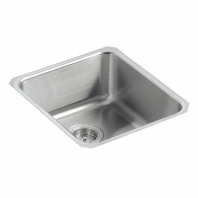Undertone 15-3/4 x 17-1/2 x 7-5/8 Medium Squared Under-Mount Single-Bowl Kitchen Sink