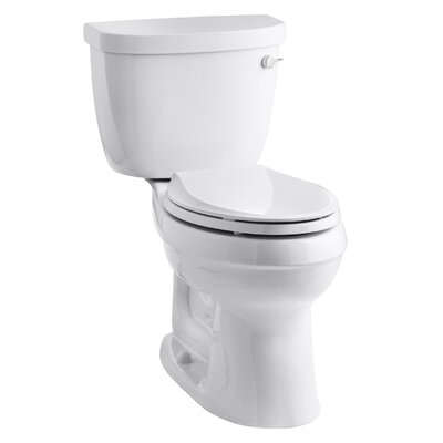 Cimarron Comfort Height 1.28 GPF Elongated Two-Piece Finish: White