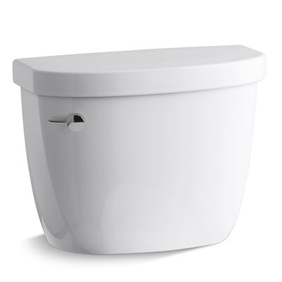 Cimarron 1.28 GPF High Efficiency Toilet Tank with Aquapiston Flush Technology and Insuliner Tank Liner Finish: White