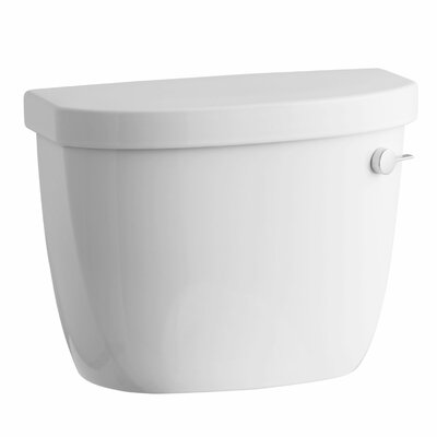 Cimarron 1.28 GPF High Efficiency Toilet Tank with Aquapiston Flush Technology, Right-Hand Trip Lever and Tank Locks Finish: White