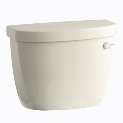 Cimarron 1.28 GPF High Efficiency Toilet Tank with Aquapiston Flush Technology, Right-Hand Trip Lever and Tank Locks Finish: Almond