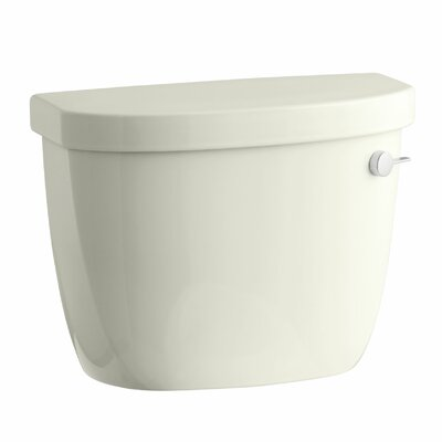Cimarron 1.28 GPF High Efficiency Toilet Tank with Aquapiston Flush Technology, Right-Hand Trip Lever and Tank Locks Finish: Biscuit