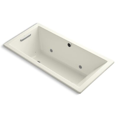Underscore Bubblemassage 60 x 30 Whirpool Bathtub Finish: Biscuit