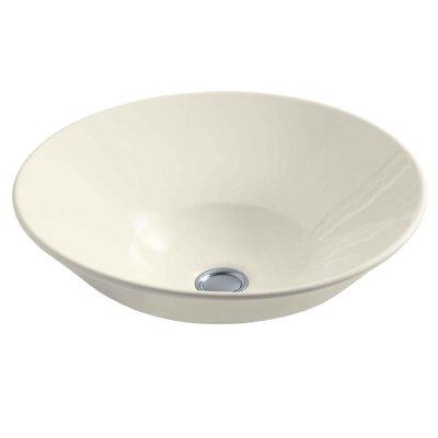 Conical Ceramic Circular Vessel Bathroom Sink Finish: Biscuit