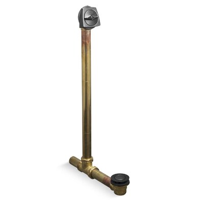 Clearflo 1-1/2 Adjustable 3.69 Trip Lever Bathroom Sink Drain Finish: Brushed Black