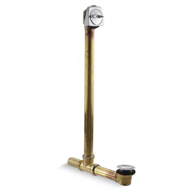 Clearflo 1-1/2 Adjustable1.5 Leg Tub Drain With Overflow Finish: Brushed Chrome