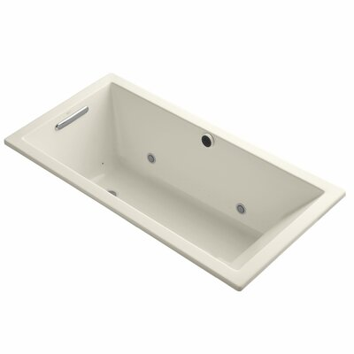 Underscore Bubblemassage 60 x 30 Whirpool Bathtub Finish: Almond