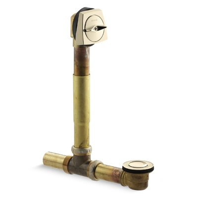 Clearflo 1-1/2 Adjustable 3.69 Trip Lever Bathroom Sink Drain Finish: Vibrant French Gold
